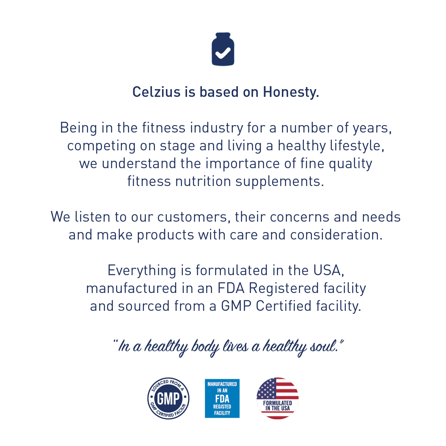 Celzius is based on Honesty...